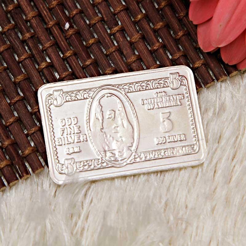 Silver Dollar Bar (5 Gms)