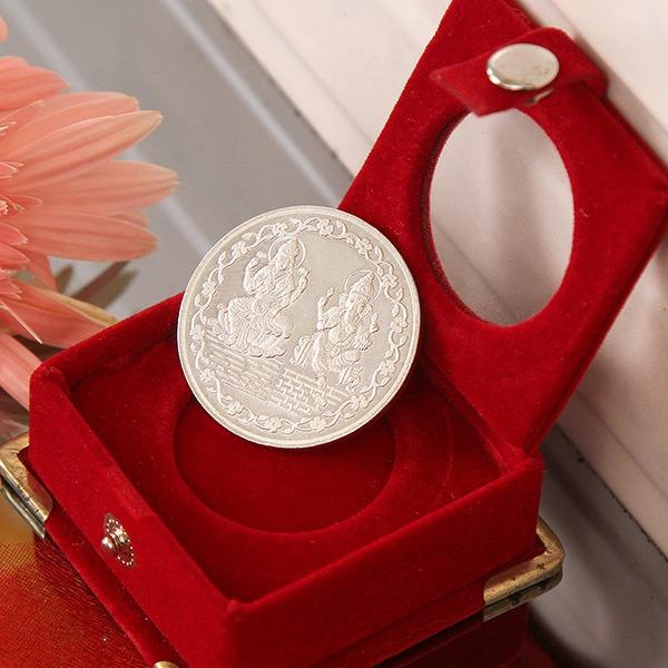 Laxmi Ganesha Silver Coin (20 Gms)