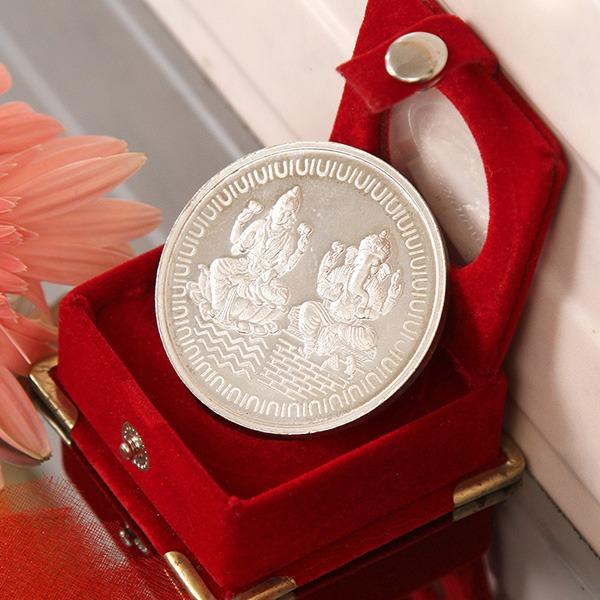 Laxmi Ganesha Silver Coin (50 Gms)