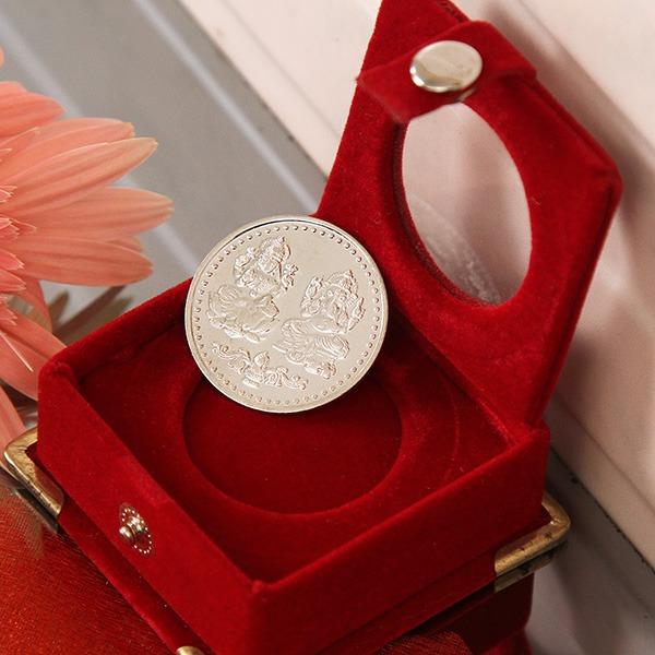 Laxmi Ganesha Silver Coin (10 Gms)